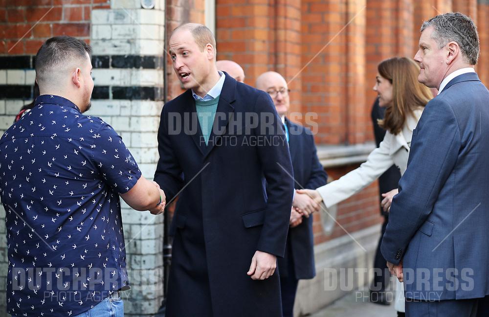 DUBLIN - Prins William en Catherine, Hertog en Hertogin van Cambridge bij een bezoek aan Jigsaw in Dublin, op de tweede dag van hun drie-daags bezoek aan Ierland.