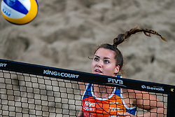 Margareta Kozuch GER, Laura Ludwig (GER) in action during the third day of the beach volleyball event King of the Court at Jaarbeursplein on September 11, 2020 in Utrecht.