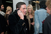 DONNA AIR; DAVID GARDNER, Nothing Matters. Damien Hirst exhibition. White Cube. Mason's Yard. London. 24 November 2009 *** Local Caption *** -DO NOT ARCHIVE-© Copyright Photograph by Dafydd Jones. 248 Clapham Rd. London SW9 0PZ. Tel 0207 820 0771. www.dafjones.com.<br /> DONNA AIR; DAVID GARDNER, Nothing Matters. Damien Hirst exhibition. White Cube. Mason's Yard. London. 24 November 2009