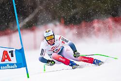 14.02.2020, Zwölferkogel, Saalbach Hinterglemm, AUT, FIS Weltcup Ski Alpin, Super G, Herren, im Bild Nils Allegre (FRA) // Nils Allegre of France in action during his run for the men's SuperG of FIS Ski Alpine World Cup at the Zwölferkogel in Saalbach Hinterglemm, Austria on 2020/02/14. EXPA Pictures © 2020, PhotoCredit: EXPA/ Johann Groder