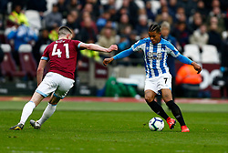 Juninho Bacuna of Huddersfield Town Declan Rice of West Ham United - Mandatory by-line: Phil Chaplin/JMP - 16/03/2019 - FOOTBALL - London Stadium - London, England - West Ham United v Huddersfield Town - Premier League