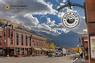 Main Street in downtown Telluride, Colorado, USA