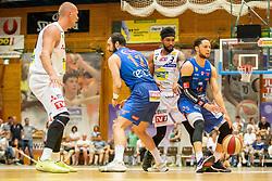 05.06.2019, Volksbank Arena, Gmunden, AUT, ABL, Swans Gmunden vs Kapfenberg Bulls, Finale, 3. Spiel, im Bild v.l.: Tilo Klette (Swans Gmunden), Marino Sarlija (Kapfenberg Bulls), Chance Murry (Swans Gmunden), Marck Coffin (Kapfenberg Bulls) // during the Admiral Basketball Bundesliga 3rd final match between Swans Gmunden and Kapfenberg Bulls at the Volksbank Arena in Gmunden, Austria on 2019/06/05. EXPA Pictures © 2019, PhotoCredit: EXPA/ Dominik Angerer