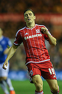 Middlesbrough midfielder Stewart Downing  during the Capital One Cup match between Middlesbrough and Everton at the Riverside Stadium, Middlesbrough, England on 1 December 2015. Photo by Simon Davies.