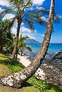 Hideaways Beach and the Na Pali Coast, North Shore, Island of Kauai, Hawaii