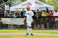 KELOWNA, CANADA - JUNE 28: Retired NHL player Josh Gorges walks to the field during the opening charity game of the Home Base Slo-Pitch Tournament fundraiser for the Kelowna General Hospital Foundation JoeAnna's House on June 28, 2019 at Elk's Stadium in Kelowna, British Columbia, Canada.  (Photo by Marissa Baecker/Shoot the Breeze)