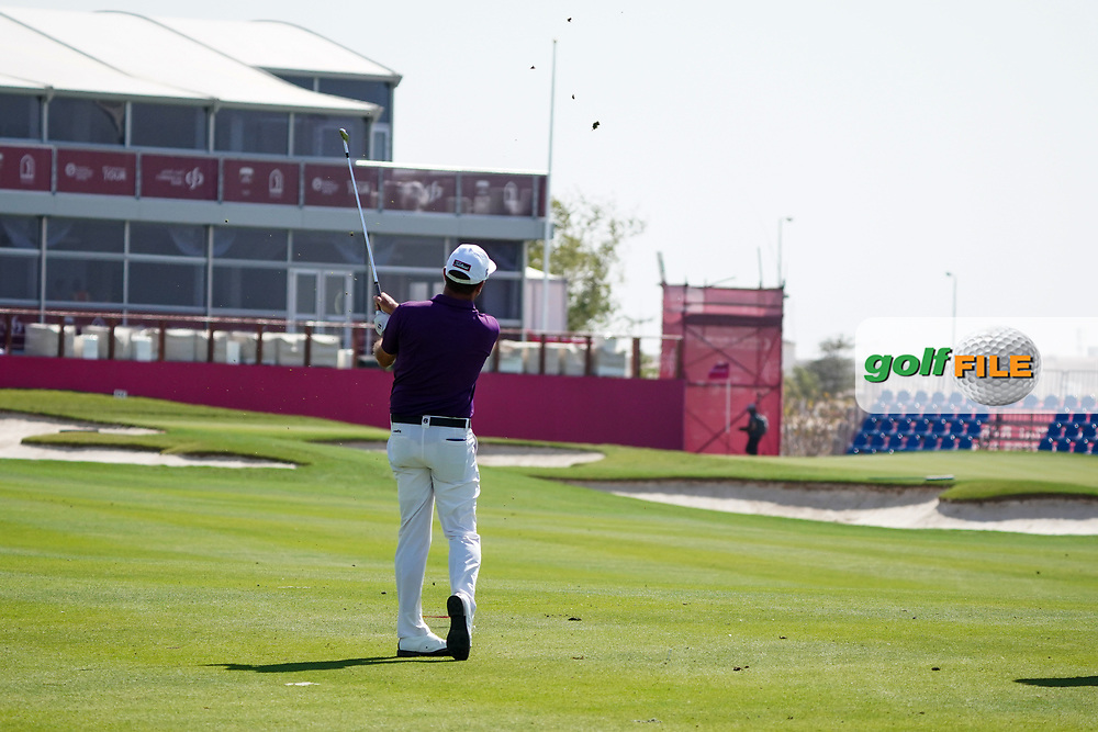 Scott Hend (AUS) on the 18th during the Pro-Am of the Commercial Bank Qatar Masters 2020 at the Education City Golf Club, Doha, Qatar . 04/03/2020<br /> Picture: Golffile | Thos Caffrey<br /> <br /> <br /> All photo usage must carry mandatory copyright credit (© Golffile | Thos Caffrey)