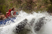 Running the rapids of the Colorado River, Grand Canyon National Park, Arizona, US - model releases on file