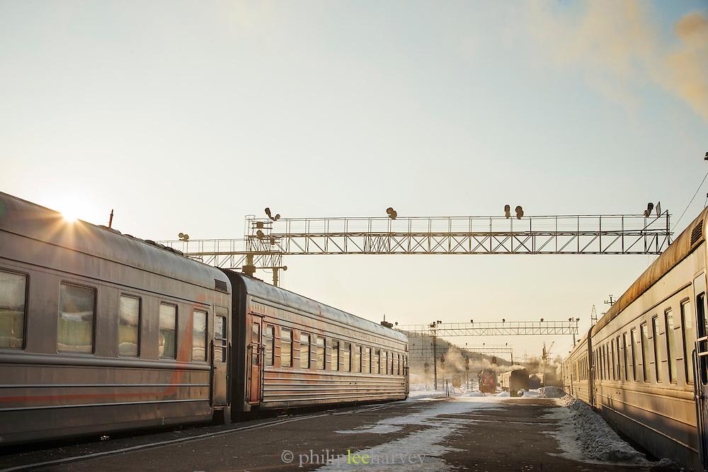 Tynda station in Winter, Amur region. Siberia, Russia