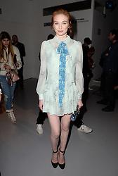 Eleanor Tomlinson attending the Bora Aksu Autumn/Winter 2017 London Fashion Week show at the BFC Show Space, 180 Strand, London. Photo credit should read: Doug Peters/ EMPICS Entertainment