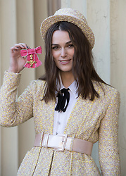 December 13, 2018 - London, United Kingdom - Actress KEIRA KNIGHTLEY with her OBE (Order of the British Empire) after an Investiture at Buckingham Palace in London. (Credit Image: © Stephen Lock/i-Images via ZUMA Press)