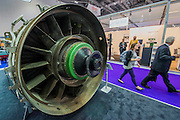 A Rolls Royce MT 30 engine - The DSEI (Defence and Security Equipment International) exhibition at the Excel Centre, Docklands, London UK 15 Sept 2015