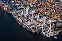 Port of Balltimore aerial photography of the Seagirt Marine Terminal by Jeffrey Sauers of Commercial Photographics
