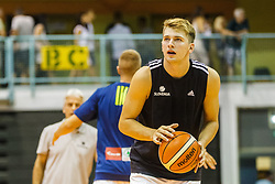 Luka Doncic #77 of Slovenia during friendly basketball match between National teams of Slovenia and Hungary on day 1 of Adecco Cup 2017, on August 4th in Arena Tabor, Maribor, Slovenia. Photo by Grega Valancic/ Sportida