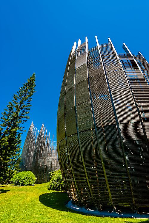 Tjibaou Cultural Center (by architect Renzo Piano), Noumea, Grand Terre, New Caledonia