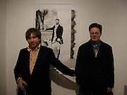 Kell and Darren Coffield, Colony Room club exhibition and auction. Elms Lester Painting rooms, Flitcroft St. 5 December 2003. © Copyright Photograph by Dafydd Jones 66 Stockwell Park Rd. London SW9 0DA Tel 020 7733 0108 www.dafjones.com