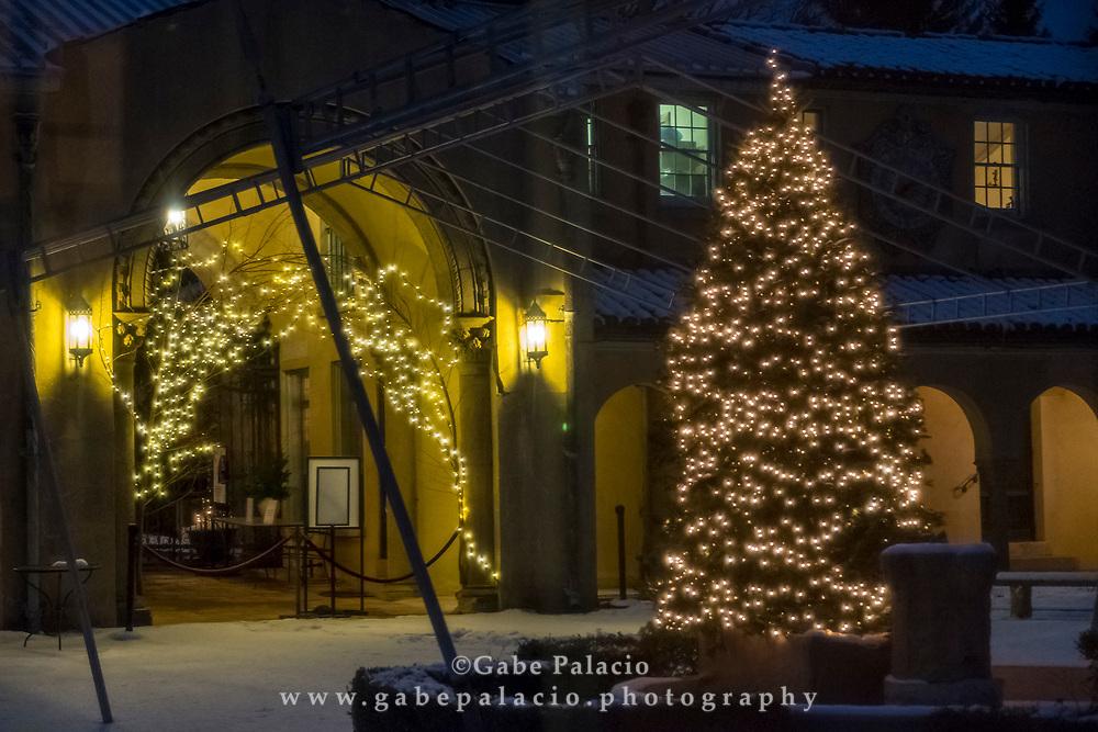 Holiday decorations at the Rosen House at Caramoor in Katonah New York on December 16, 2017. <br /> (photo by Gabe Palacio)