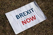 Anti Brexit protest with message to Stop Brexit in Westminster on the day after Parliament voted to take control of Parliamentary proceedings and prior to a vote on a bill to prevent the UK leaving the EU without a deal at the end of October, on 4th September 2019 in London, England, United Kingdom. Yesterday Prime Minister Boris Johnson faced a showdown after he threatened rebel Conservative MPs who vote against him with deselection, and vowed to aim for a snap general election if MPs succeed in a bid to take control of parliamentary proceedings to allow them to discuss legislation to block a no-deal Brexit.