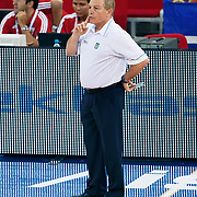 Ukraine's coach Mike FRATELLO during their Istanbul CUP 2011match played Ukraine between Montenegro at Abdi Ipekci Arena in Istanbul, Turkey on 24 August 2011. Photo by TURKPIX
