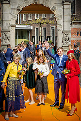 Queen Maxima and King Willem Alexander with Princess Amalia , Princess Ariane and Princess Alexia and Princess Laurentien attending King's Day Celebrations in Groningen, Netherlands, on April 27, 2018. Photo by Robin Utrecht/ABACAPRESS.COM