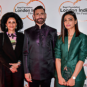 Cary Sawhney, Dr Alka Bagri and guests arrives at London Indian Film Festival world premiere of Anubhav Sinha's 'Article 15' at Picturehouse Central, on 20 June 2019, London , UK.