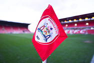 A view of one of the corner flags before the EFL Sky Bet League 1 match between Barnsley and Sunderland at Oakwell, Barnsley, England on 12 March 2019.