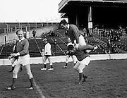 Horseplay at a charity football match at Croke Park between TDs and Senators.<br /> <br /> 26/03/1972