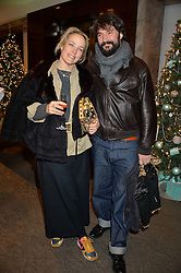 BAY GARNETT and TOM CRAIG at a VIP evening hosted by Joely Richardson at the Tiffany & Co Christmas Shop, Tiffany & Co Old Bond Street, London on 24th November 2013.