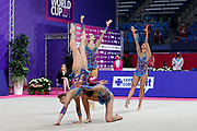 The national team of Israel during team final at the Pesaro World Championships at Virtifigo Arena, May 30, 2021.
