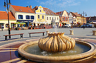 Town square, K?szeg Hungary .<br /> <br /> Visit our HUNGARY HISTORIC PLACES PHOTO COLLECTIONS for more photos to download or buy as wall art prints https://funkystock.photoshelter.com/gallery-collection/Pictures-Images-of-Hungary-Photos-of-Hungarian-Historic-Landmark-Sites/C0000Te8AnPgxjRg
