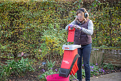 Using a shredder with proper safety kit - goggles, ear defenders and gloves.
