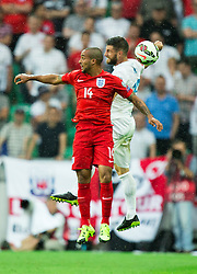 Theo Walcott of England vs Bojan Jokic of Slovenia during the EURO 2016 Qualifier Group E match between Slovenia and England at SRC Stozice on June 14, 2015 in Ljubljana, Slovenia. Photo by Vid Ponikvar / Sportida