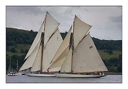 Mariquita 1911 a 19 metre and Moonbeam III 1903 Gaff Cutter... Round the Cumbraes race to open the regatta. Light variable breeze and grey skies shrouded the fleet with a strong spectator fleet...* The Fife Yachts are one of the world's most prestigious group of Classic .yachts and this will be the third private regatta following the success of the 98, .and 03 events.  .A pilgrimage to their birthplace of these historic yachts, the 'Stradivarius' of .sail, from Scotland's pre-eminent yacht designer and builder, William Fife III, .on the Clyde 20th -27th June.   . ..More information is available on the website: www.fiferegatta.com . .Press office contact: 01475 689100         Lynda Melvin or Paul Jeffes