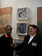 artist 'Mali' and Pascal Allouard, The Affordable Art Fair private view ( in aid of Barnados) Battersea. 19 March 2003. © Copyright Photograph by Dafydd Jones 66 Stockwell Park Rd. London SW9 0DA Tel 020 7733 0108 www.dafjones.com