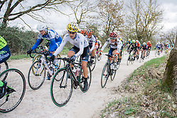 Emma Johansson and Clara Koppenburg well positioned over the first stretch of gravel - 2016 Strade Bianche - Elite Women, a 121km road race from Siena to Piazza del Campo on March 5, 2016 in Tuscany, Italy.