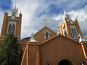 26 AUGUST 2007 -- ALBUQUERQUE, NM: San Felipe De Neri in Old Town in Albuquerque, NM, is the oldest church in Albuquerque. It has been in continous use since 1706.  PHOTO BY JACK KURTZ