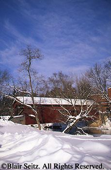 PA Covered Bridges, Yellow Breeches Creek, Messiah College, Cumberland and York Co., Pennsylvania
