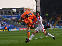 Photo: Tony Oudot/Richard Lane Photography. Crystal Palace v Reading. Coca-Cola Football League Championship. 21/03/2009. <br /> Dave Kitson of Reading flicks the ball watched by Jose Fonte of Palace