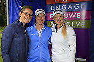 Carla Reynolds, Leona Maguire (IRL) and Stephanie Meadow (NIR)at the Golf4Girls4Life festival at the ISPS Handa World Invitational, Galgorm Castle Golf Club, Ballymena, Antrim, Northern Ireland. 14/08/2019.<br /> Picture Fran Caffrey / Golffile.ie<br /> <br /> All photo usage must carry mandatory copyright credit (© Golffile   Fran Caffrey)