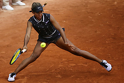May 22, 2019, Paris, France: WHITNEY OSUGWE of the USA in action against Myrtille Georges of France during the first qualifications round of the French Open at Roland Garros in Paris, France. Osugwe won 2:6, 7:6, 7:5. (Credit Image: © Ibrahim Ezzat/NurPhoto via ZUMA Press)