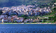 Castellammare del Golfo, Sicily, Italy view from the sea looking inland at the town