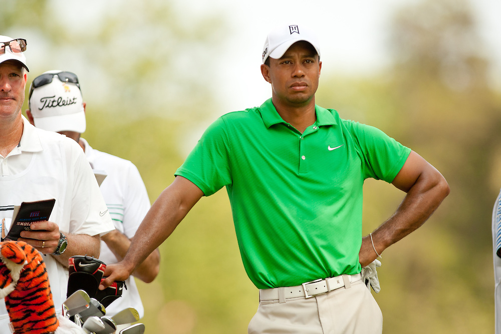 BETHESDA, MD - JUNE 30: Tiger Woods during the third round of the 2012 AT&T National at Congressional Country Club in in Bethesda, Maryland on June 30, 2012. (Photograph ©2012 Darren Carroll) *** Local Caption *** Tiger Woods