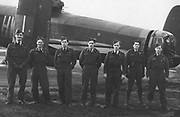 F/O E.A. Jackson and his crew flew this Lancaster Bomber (LM854) on four of his 33 missions over Germany.  <br />