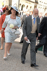 COUNTESS BATHURST and PRINCE MICHAEL OF KENT at the wedding of Lady Natasha Rufus Isaacs to Rupert Finch held at St.John The Baptist Church, Cirencester, Gloucestershire, UK on 8th June 2013.