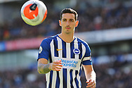 Brighton & Hove Albion defender Lewis Dunk in action during the Premier League match between Brighton and Hove Albion and Crystal Palace at the American Express Community Stadium, Brighton and Hove, England on 29 February 2020.