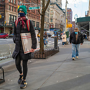 Manhattan streets remain sparse to both visitors and traffic during the Coronavirus (Covid-19) pandemic on Tuesday, January 19, 2021 in Manhattan, New York. (Alex Menendez via AP)