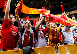 Fans of Macedonia during basketball game between National basketball teams of F.Y.R. of Macedonia and Slovenia at FIBA Europe Eurobasket Lithuania 2011, on September 10, 2011, in Siemens Arena,  Vilnius, Lithuania. Macedonia defeated Slovenia 68-59. (Photo by Vid Ponikvar / Sportida)
