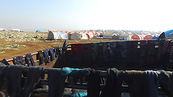 Syrian refugees that are coming from Aleppo are taken to a camp at Kemmune near Idlib city, north west of Syria, on December 20, 2016. The camp at Kemmune keeps up to 90.000 people. Kemmune camp is made by Turkish red crescent, IHH NGO and AFAD (Turkish Disaster and Emergency Management Presidency). Photo by Depo Photos/ABACAPRESS.COM
