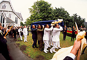 Sir Edmund Hillary funeral January 2008, guard of honour with mountaineer's ice axes, Auckland, New Zealand,