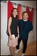 ELENA SHCHUKINA; TONY CHAMBERS;, Born in the USSR, Design exhibition opening. Gallery Elena Shchukina, Beauchamp Place, Knightsbridge. London. 15 September 2014.